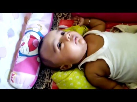 a baby sleepig in home funny video