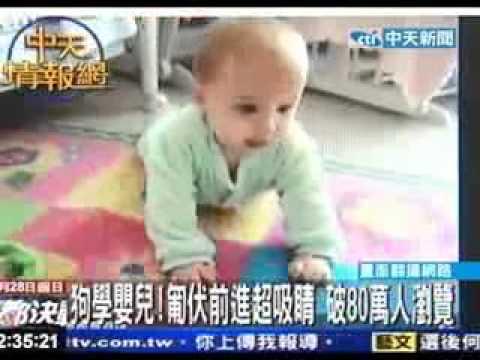 超可愛!法鬥示範爬行給寶寶看~萌翻~*
