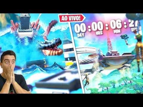 COMEÇOU O Evento Ao Vivo Do Monstro Do Pico Polar Vs Robo Gigante (Fortnite)
