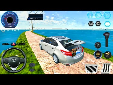Car Simulator Vietnam 3D - Toyota Vios Driving In Flood Village and Sea Road - Android Gameplay