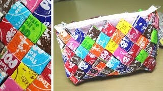 DIY Candy Wrapper Purse - YouTube