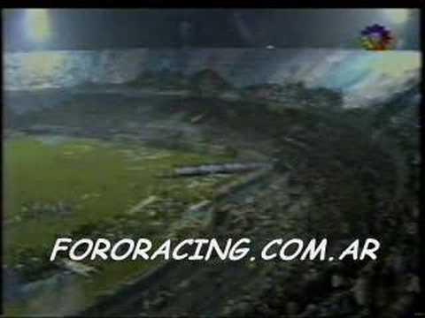 Video - Racing bandera gigante (canal 13) - La Guardia Imperial - Racing Club - Argentina