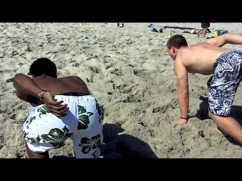 砂浜でのトレーニングメニュー
