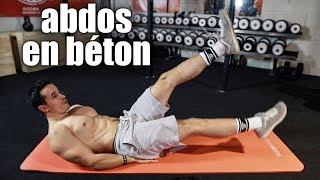 Exercices Abdos en Béton ! (à la maison en 7min)