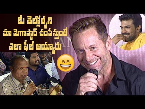 Sye Raa stunt director Lee Whitaker superb answer to funny question | #SyeRaaTeaser | #SyeRaa