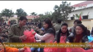 Qũy từ thiện Đạo Phật Ngày Nay phát quà tại TTGDLD Thanh Hóa