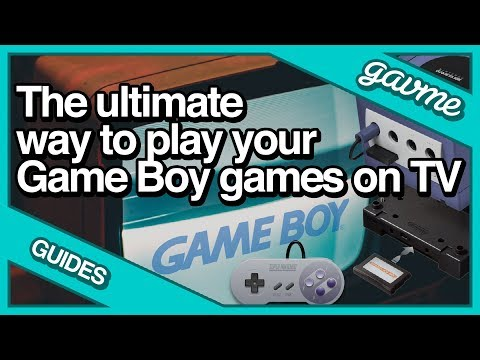 How to load the Game Boy Interface from a Memory Card on GameCube to play Game Boy on TV.