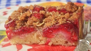 Recipe here: http://www.joyofbaking.com/cakes/StrawberryStreuselCake.html Stephanie Jaworski of Joyofbaking.com demonstrates how to make a Strawberry Streusel Cake. While I call this a Strawberry Streusel Cake, you could also call it a Strawberry Buckle. I really like this type of dessert. It's a Coffee Cake (Kuchen) of sorts, with three delicious layers. On the bottom is a soft and fluffy white butter cake, followed by a layer of fresh strawberries, then it's finished with a crunchy Graham Cracker Crumb Streusel.Read more: http://www.joyofbaking.com/cakes/StrawberryStreuselCake.html#ixzz4jKPdA57YFollow us: @joyofbaking on Twitter  joyofbaking on FacebookNew Recipes every Thursday before noon Eastern time. Join our Facebook Page: http://www.facebook.com/joyofbaking