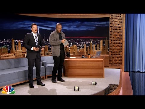 Tyler - Jimmy and Tyler Perry go head-to-head using iPads to race jumping drones around the Tonight Show studio. Subscribe NOW to The Tonight Show Starring Jimmy Fallon: http://bit.ly/1nwT1aN Watch...