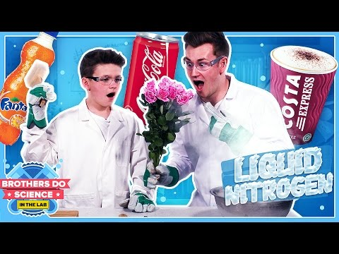 LIQUID NITROGEN VS DRINKS | Brothers Do Science: In The Lab (видео)