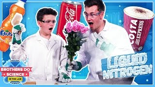 What will happen if you put soft drinks in Liquid Nitrogen? LET'S FINE OUT! #BrothersDoScience► Subscribe To See More :) - http://bit.ly/OliWhiteTVLeave a comment below what you think we should freeze next!Welcome to our brand new series called Brothers Do Science: In The Lab. Each week we will be experimenting with Liquid Nitrogen and freezing different objects. The question is will they survive the smash zone??We will also be freezing a viewer suggested item each week so let us know what you want us to freeze using the hashtag #BrothersFreezeThis.I really hope you guys like the new series :)Big thanks to Westminster Uni!https://www.westminster.ac.uk/MY INSTAGRAM: @OliWhiteTVMY TWITTER: @OliWhiteTVMY SNAPCHAT: OliWhite1MY FACEBOOK: fb.com/OliWhiteTVFOLLOW JAMES ON TWITTER: @JamesWhite_TVFOLLOW JAMES ON INSTAGRAM: @JamesWhite_TV► ORDER THE TAKEOVER NOW! - http://www.gen-next.co.uk▶︎ (UK) ORDER GENERATION NEXT - http://amzn.to/1QkOuMw▶︎ (USA) http://bit.ly/GenNextUSBook