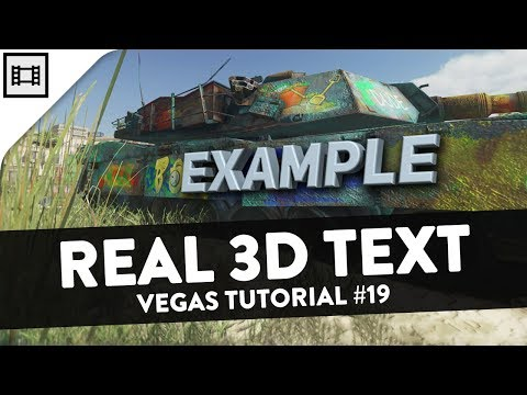 How To Make 3D Text (BCC) - Vegas Tutorial #19