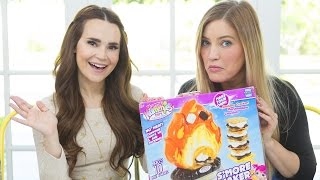 It's been awhile since we tried our tiny chicken nuggets.. but we're back trying TINY SMORES! Trying Fun Face Masks with Ro: ...