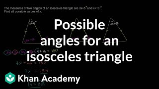 Another Isosceles Example Problem