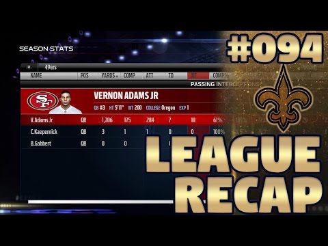 League Recap (Yearly Awards, Stats, & Standings)   Madden NFL 17 New Orleans Saints Franchise Ep. 94