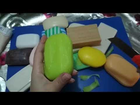 ASMR. soap.....🤗 yagli ve quru sabunlar💚💛💜💙💗💝🖤