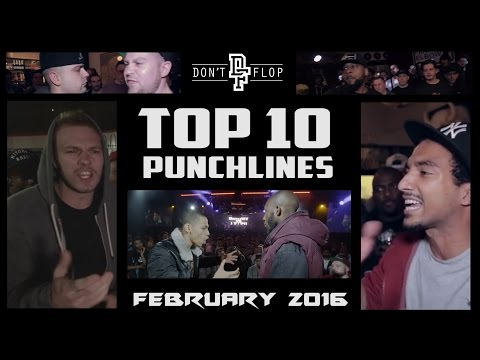 DON'T FLOP: TOP 10 PUNCHLINES | FEBRUARY 2016 @DontFlop