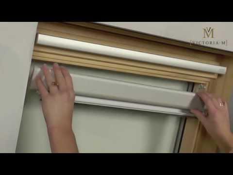 Dachfensterrollo / Verdunkelungsrollo von VICTORIA M - Montage