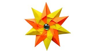 Оригами звезда из бумаги. Modular Origami Star - easy