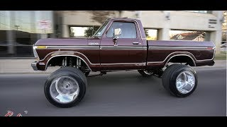 1979 CLASSIC F100 LIFTED 9 INCHES WITH 22X16 AMERICAN FORCE WHEELS!