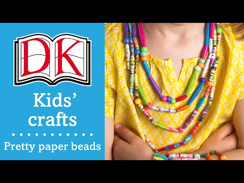 Craft ideas for kids: Paper beads