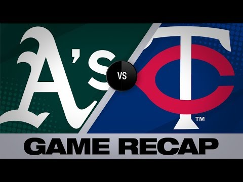 Video: Davis lifts A's with go-ahead RBI in 6th   A's-Twins Game Highlights 7/19/19