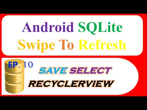 Android SQlite : RecyclerView -CRUD then Swipe/Pull To Refresh