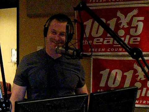 Comedian PJ Walsh on 101.5 The Eagle Studio  April 2010 Video 2