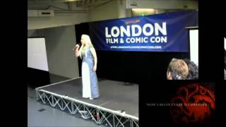 Chameleon performing Daenerys' speech from Breaker of Chains (4x03) entirely in High Valyrian at the LFCC 2015 Cosplay Championship. Video from ...