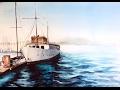 Watercolor Boat at the Marina Painting Demonstration