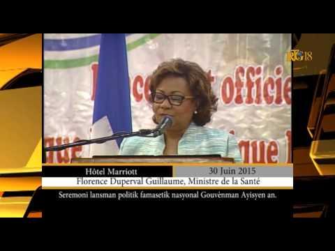 Lancement de la Politique Pharmaceutique Nationale en Haïti