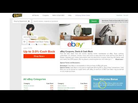 Shop Ebay CashBack On Ebates