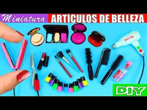 Videos de uñas - 10 Artículos de Belleza en Miniatura - Para el Pelo, Uñas y Maquillaje - 10 Manualidades Fáciles