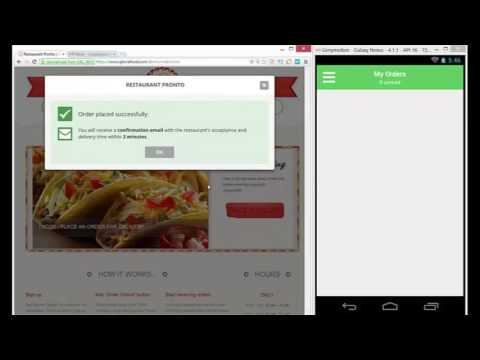How online ordering for restaurants works - by GloriaFood