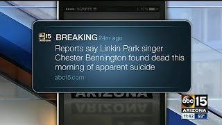 Linkin Park singer Chester Bennington was found dead in his LA house.