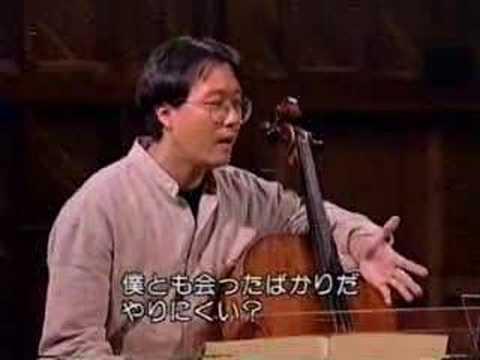 Yo-Yo Ma - Cello lesson
