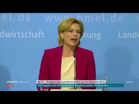 Pressekonferenz mit Julia Klöckner, Bundeslandwirtschaf ...