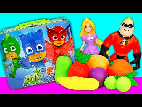 Play doh - PJ Masks and Incredibles 2 Playdoh Fruit Surprise with Paw Patrol and Puppy Dog Pals