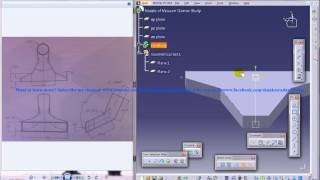 Catia V5 Tutorial|Product Engineering|How Create Nozzle of Vacuum Cleaner(Easy Steps Beginners)|P2