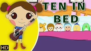 Ten in Bed (दस पलंग में) Hindi Rhymes For Children | Shemaroo Kids Hindi