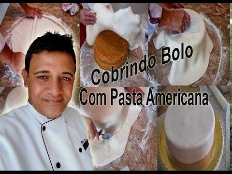 Americana - Aprenda neste video a cobrir seu bolo com pasta americana passo a passo com Alexandre Alarcão.