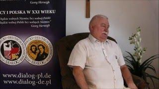 Rozmowa z Lechem Wałęsa o polsko-niemieckim dialogu.