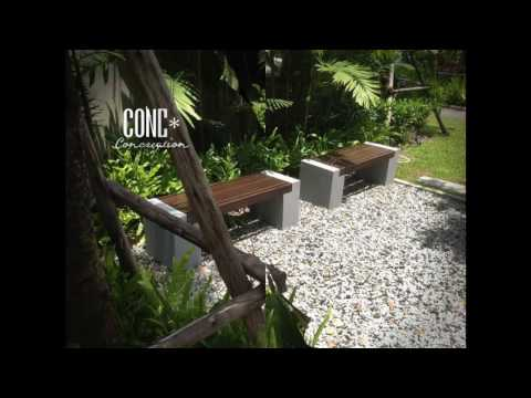 ConcreationStudio ม้านั่งสนาม เก้าอี้สนาม ชุดโต๊ะสนาม เฟอร์นิเจอร์สนาม outdoor furniture