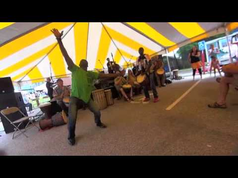 West African Drum &Dance w/ Djembe Fola Namory Keita &Youssouf Koumbassa Dance Solo