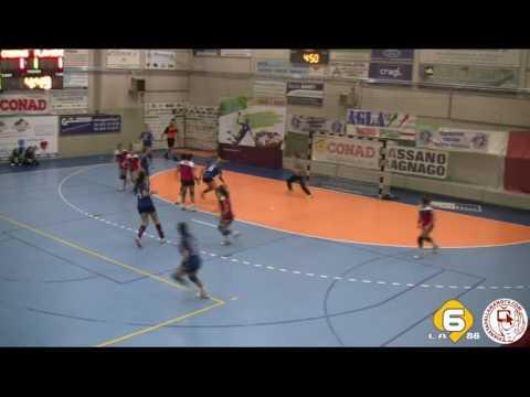 2016/12/10 PF Cassano Magnago vs Flavioni Civitavecchia primo tempo handball pallamano