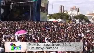 Entrevista Com Cassiane E Apresentação Na Marcha Pra Jesus 2013 Em São Paulo