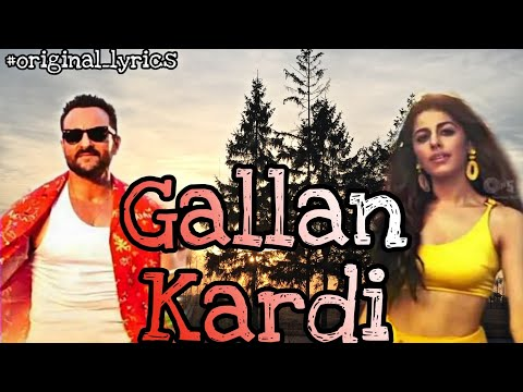 Video Gallan Kardi Lyrical - Jawaani Jaaneman   Saif Ali Khan, Tabu, Alaya F Jazzy B, Jyotica, Mumzy download in MP3, 3GP, MP4, WEBM, AVI, FLV January 2017