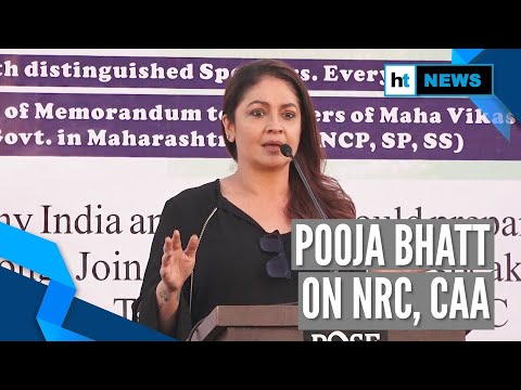 'I don't support CAA & NRC as it divides my house': Pooja Bhatt