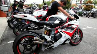 9. MV Agusta F4 RR with Zard V2 Exhaust High Revv Extraordinary Sound!