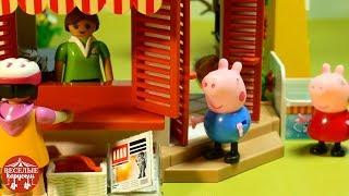 Свинка Пеппа в магазине помагает. Мультик из игрушек Peppa Pig для детей stop motion